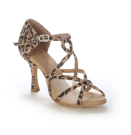 Ladies leopard print dance shoes with mesh