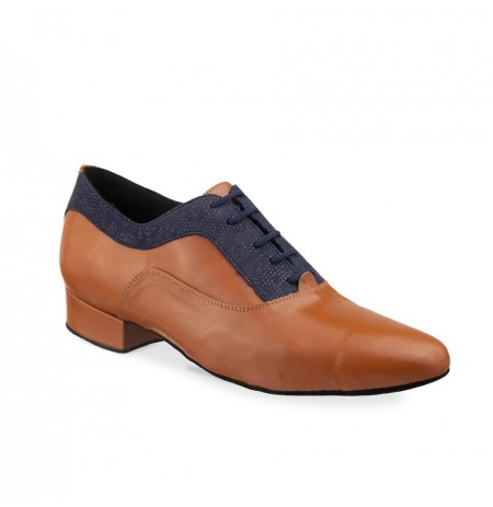 Two toned leather oxford dance shoes for men