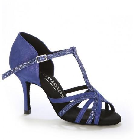 Blue glittery salsa dance heels