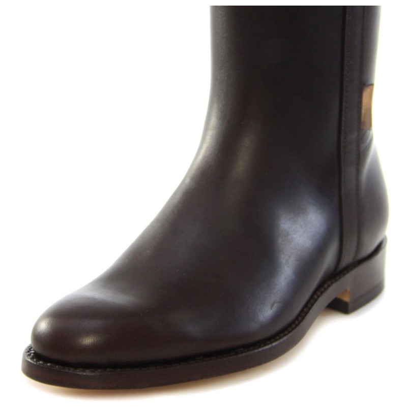 high quality authentic brown leather boots classic real