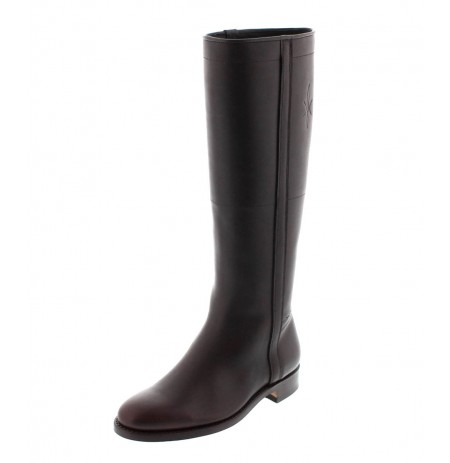 Made to measure traditional brown leather riding boots