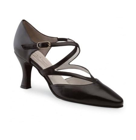 Black suede strappy dancing shoes