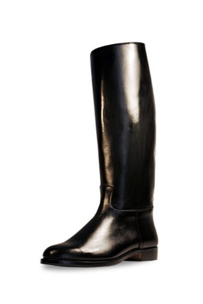 glossy black leather horse riding boots handmade shiny black leather