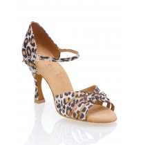 Elegant leopard ballroom dancing shoes