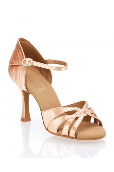 5de6db3c9c900 LIGHT BEIGE OPEN TOE LATIN DANCE HEELS Ladies professional sandal ...