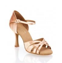 Elegant nude beige ballroom dancing shoes