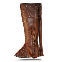 Spanish brown leather riding gaiter