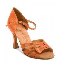 Chic copper beige ballroom dancing shoes