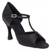 Black T-strap dancing shoes