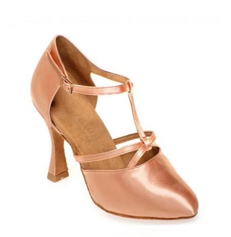 Beige satin salomé dancing shoes