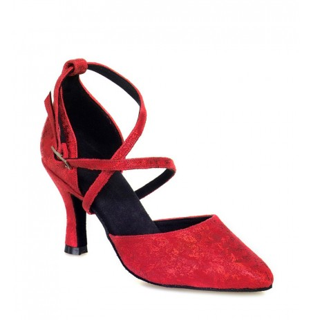 Classic chic red leather dancing shoes