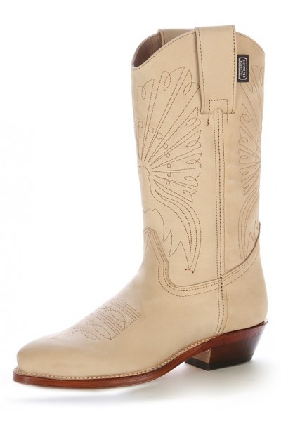 taille 40 2d3d0 3eccd Beige handmade leather Mexican cowboy boots