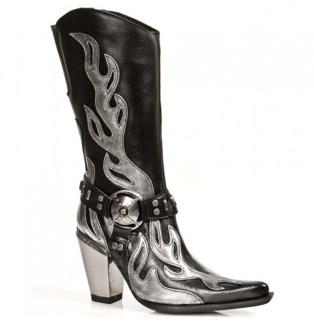 cowboy boots Leather rock cowboy boots