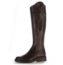 Elegant brown leather riding boots