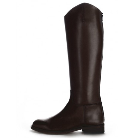 Handmade black leather horse riding boots