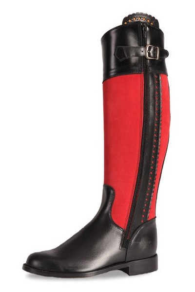 d1abe18c38b12f Two-tone black and red ladies boots Red and black boots for horse riding