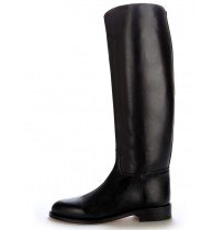 Made to measure black leather riding boots
