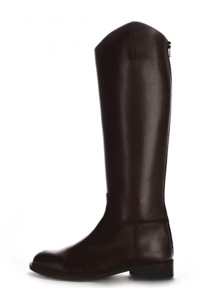14b8c558baf8b Custom-made black leather horse riding boots