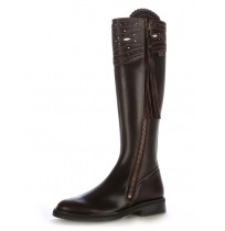 Iberian brown leather riding boots