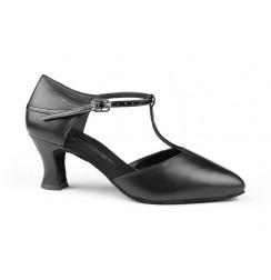 Chaussures de danse salomé satin noir