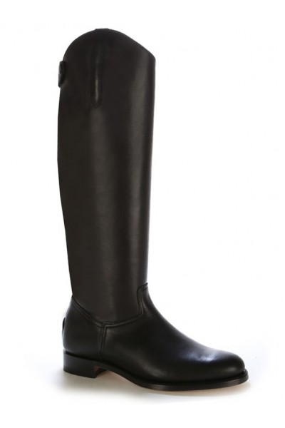 141614e001a72 Black leather dressage boot for horse riding