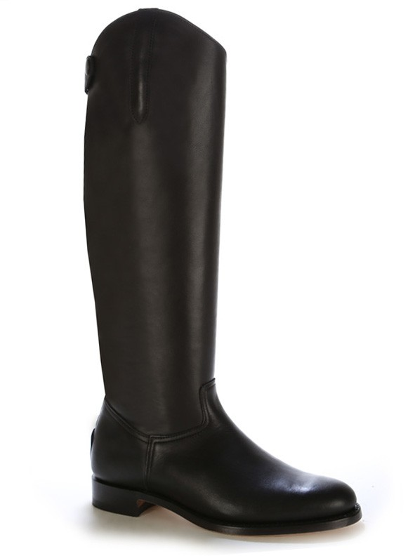 791ce1adbf865 Black leather dressage boot for horse riding Black leather horse ...