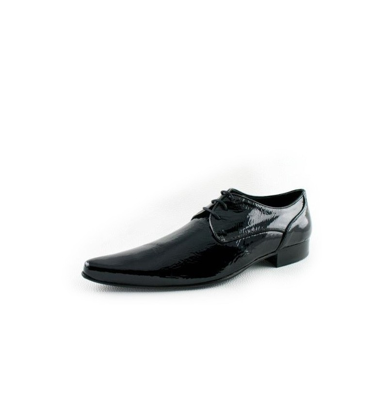 Black Patent Leather Derbys Formal Black Leather Wedding Shoes For Men