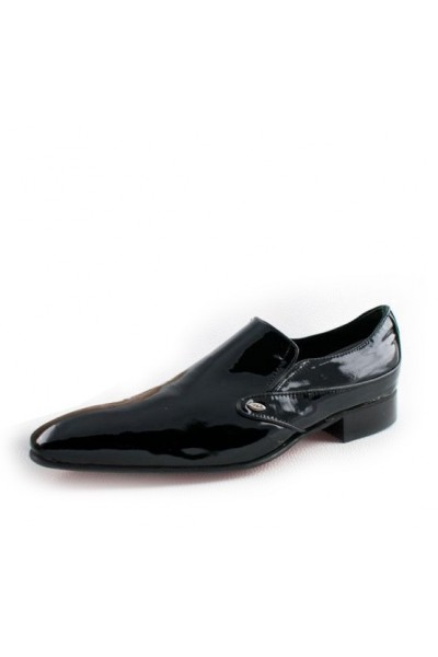 a15dd98e3b VARNISHED BLACK LEATHER WEDDING LOAFERS Shiny black leather smart ...