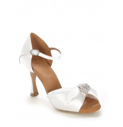 Elegant white draped bride shoes
