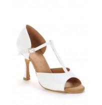 """Elegant white leather """"salomé"""" shoes"""