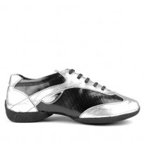 Grey and silver dancing shoes for men