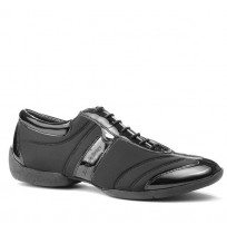 Grey and black smart dancing shoes for men