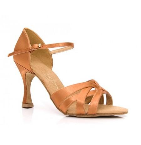 Copper satin dancing shoes for women