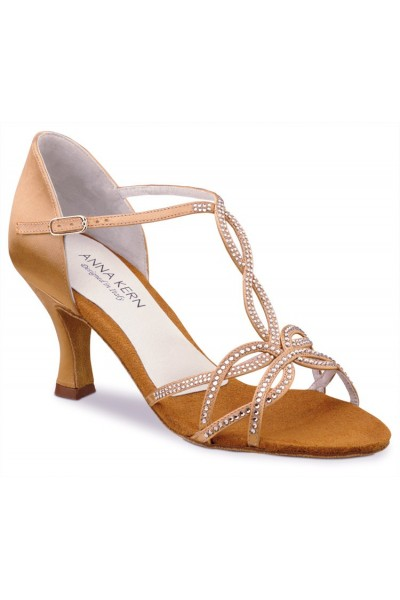 Copper and strass dancing shoes