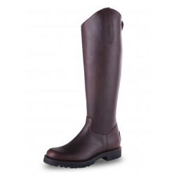 Brown riding boots with mountain rubber soles