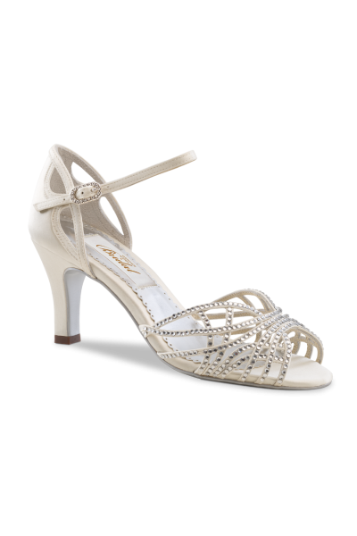 Shiny Ivory Bridal Sandals