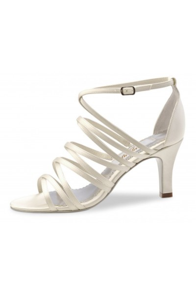 Ivory satin bridal sandals
