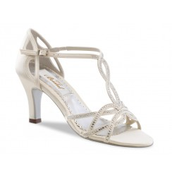 Ivory bridal shoes with rhinestones