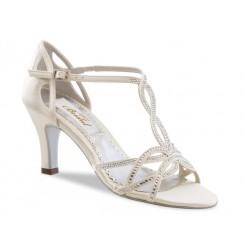 Ivory bridal shoes with rhinestones