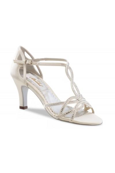 298ed08fb2 Ivory bridal shoes with rhinestones- wedding comfort shoes-ivory ...