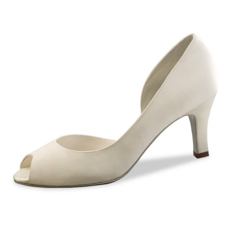 Elegant ivory closed toe heels for brides on sale