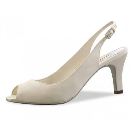 Comfortable ivory wedding heels on sale