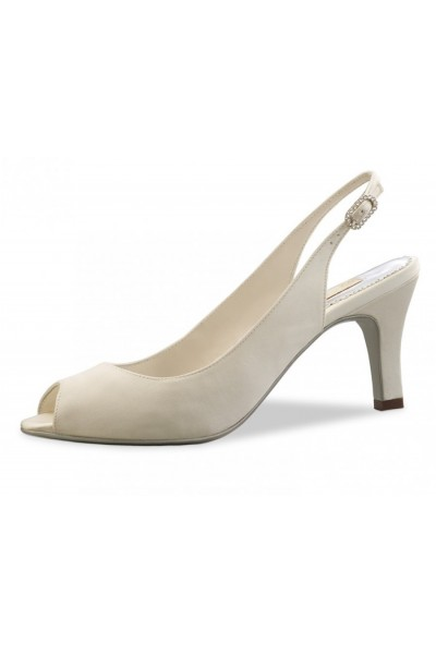 4be981c9c6e0 Classic satin Ivory pump - wedding comfort shoes-ivory bride shoe