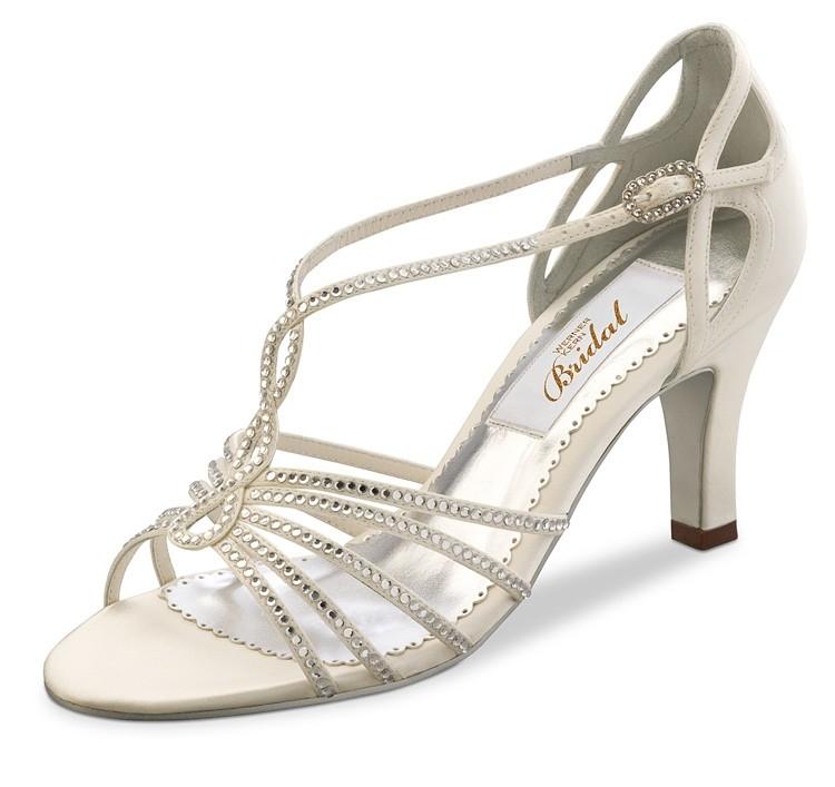Ivory Bridal Shoes With Rhinestones Wedding Comfort Bride Shoe