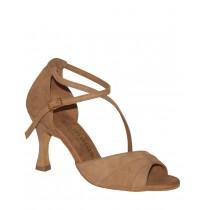 Elegant beige nubuck sandals