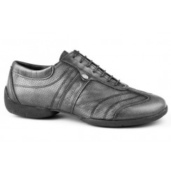 Grey leather man sneakers