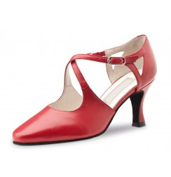 Red closed toe dancing shoe