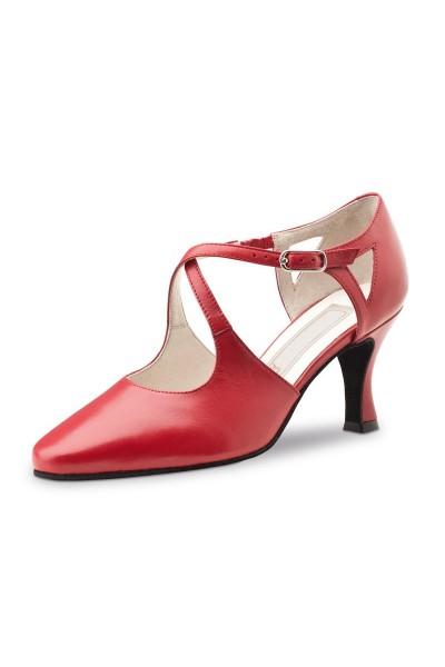 Red closed toe dancing shoe