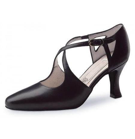 Ladies classic black closed toe tango shoes