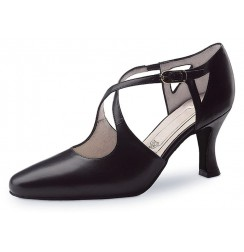 Classic black closed toe dancing shoe